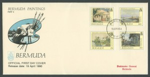 1990 Bermuda Paintings Part II FDC