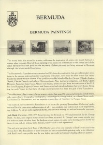 1990 Bermuda Paintings Part II insert FDC