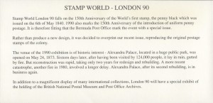 1990 Stamp World London 1990 insert FDC