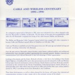 1990 Cable and Wireless Centenary insert FDC