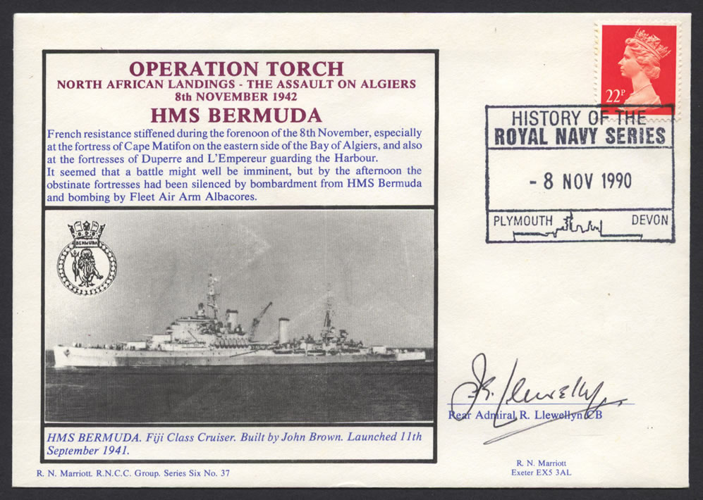 Operation Torch HMS Bermuda CC