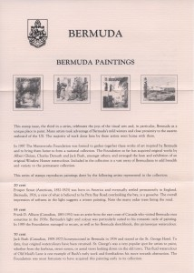 1991 Bermuda Paintings Part III insert FDC