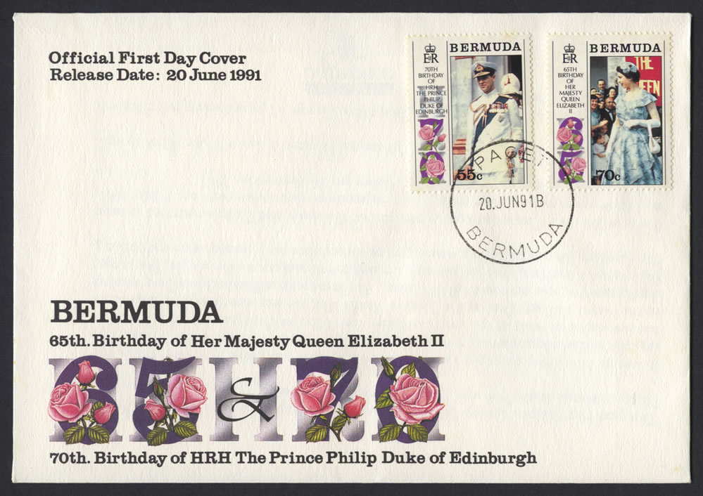 1991 Queen Elizabeth II and Prince Philip DoE Birthdays FDC