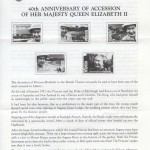 1992 40th Anniversary of Accession of HM Queen Elizabeth II insert FDC