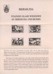 1992 Bermuda Stained Glass Windows FDC liner