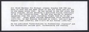 1993 75th Anniversary of the Royal Air Force Benham insert FDC