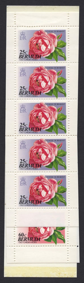 1993 Old Garden Roses Booklet Stamps SB6
