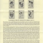 1994 Flowering Fruits Definitive Series Part II insert FDC