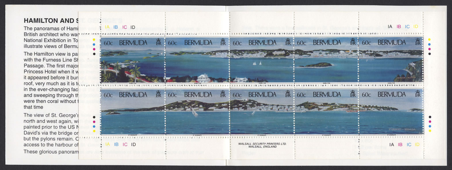 1996 Hamilton and St George's Panoramas Booklet stamps