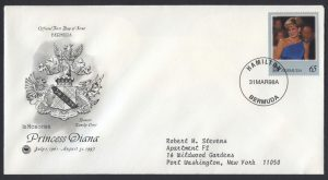 1998 Diana, Princess of Wales Commemoration 65c FDC
