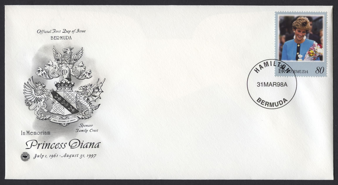 1998 Diana, Princess of Wales Commemoration 80c FDC