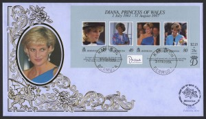 1998 Diana, Princess of Wales Commemoration Benham FDC