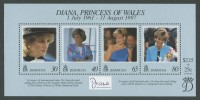 1998 Diana, Princess of Wales Commemoration MS