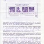 1998 Diana, Princess of Wales Commemoration Official insert FDC