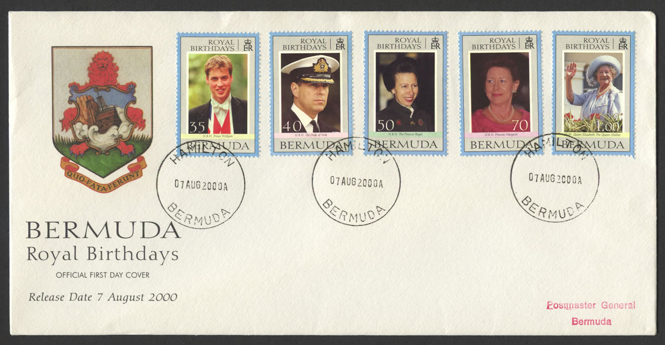 2000 Royal Birthdays Official FDC