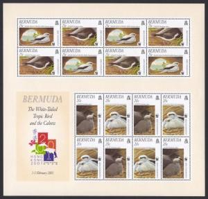2001 Endangered Species Bird Conservation Souvenir Sheet MS