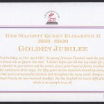 2002 QEII Golden Jubilee Miniature / Souvenir Sheet rev FDC