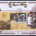 2002 Queen Elizabeth the Queen Mother Souvenir Sheet FDC