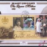 2002 Queen Elizabeth the Queen Mother Souvenir Sheet FDC
