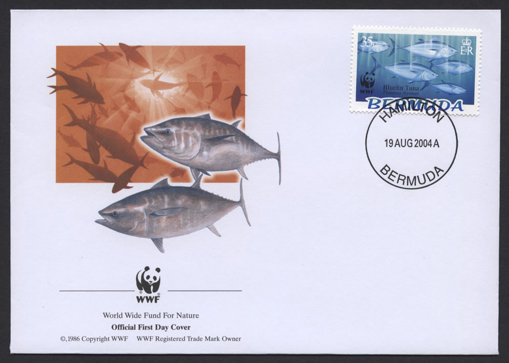 2004 WWF Endangered Species Bluefin Tuna 35c FDC