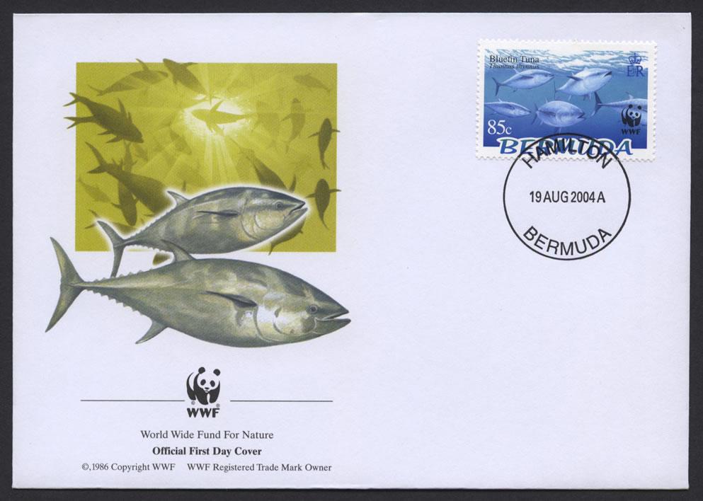 2004 WWF Endangered Species Bluefin Tuna 85c FDC