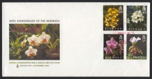 50th Anniversary of the Bermuda Orchid Society FDC reverse