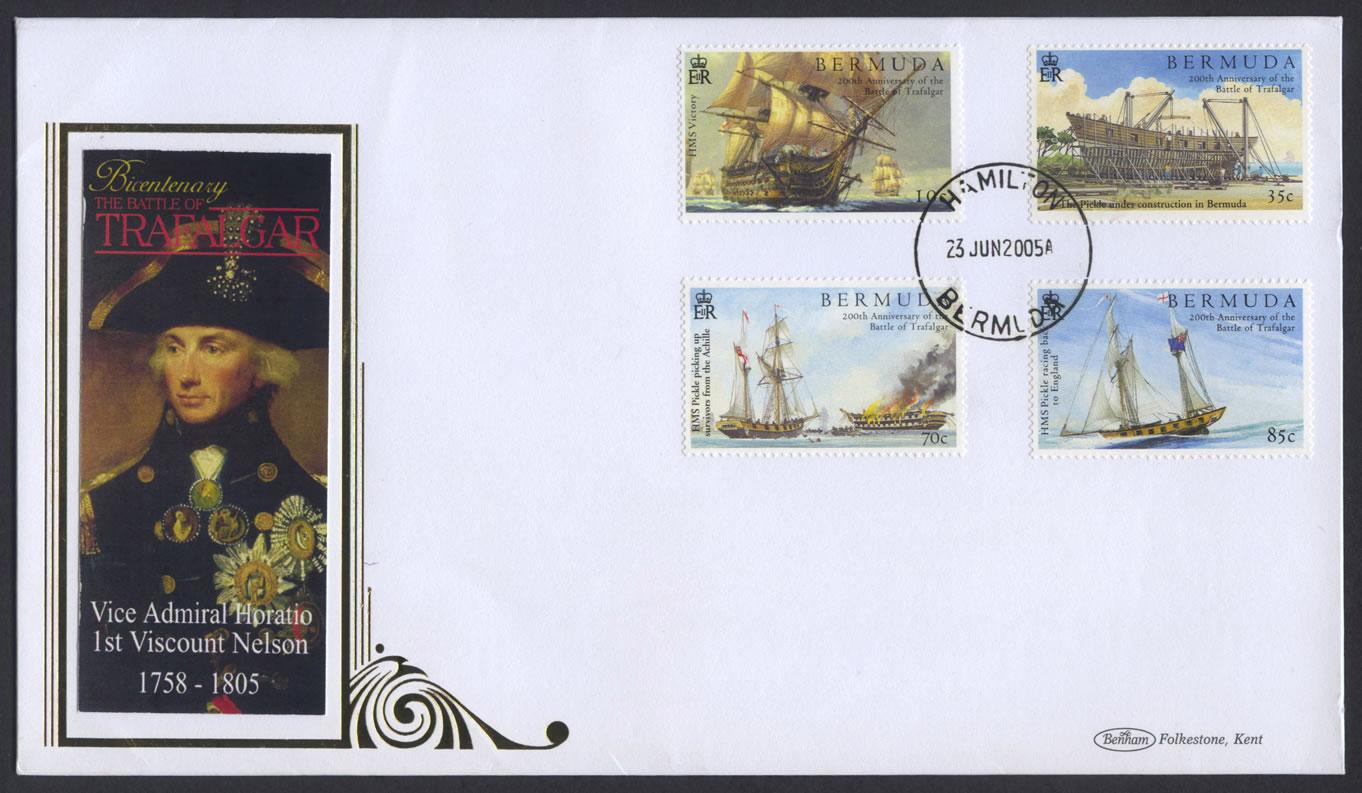 2005 200th Anniversary of The Battle of Trafalgar FDC Benham
