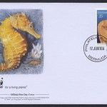 2010 WWF Lined Seahorse 35c FDC