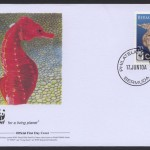2010 WWF Lined Seahorse 70c FDC