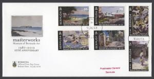 2012 Masterworks Museum of Bermuda Art 1987-2012 FDC