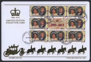 2013 60th Anniversary of the Coronation $1.10c Collector Card
