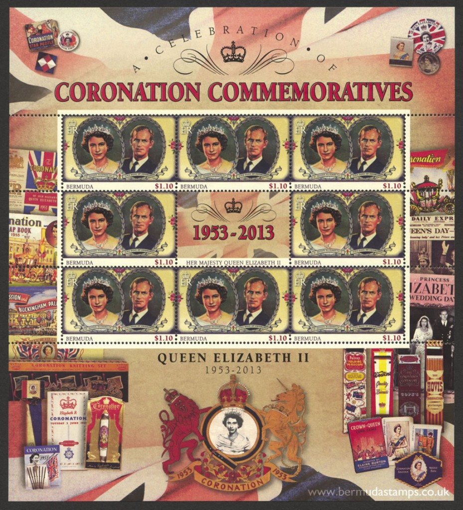 2013 60th Anniversary of the Coronation $1.10c Souvenir Sheet