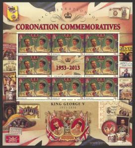 2013 60th Anniversary of the Coronation 70c Souvenir Sheet