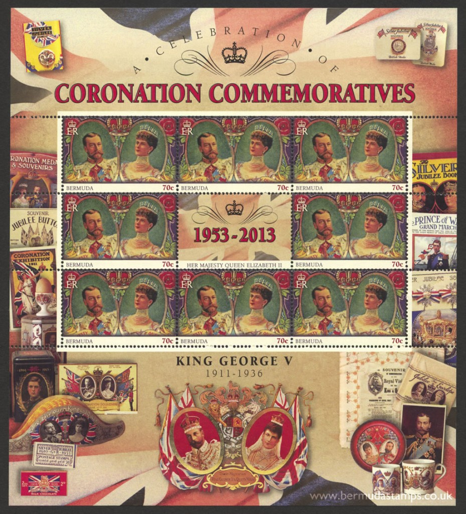 2013 60th Anniversary of the Coronation 70c Souvenir Sheet