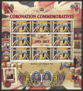 2013 60th Anniversary of the Coronation 85c Souvenir Sheet