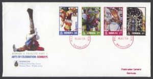 2013 Bermuda's Folklife Part I Gombeys FDC