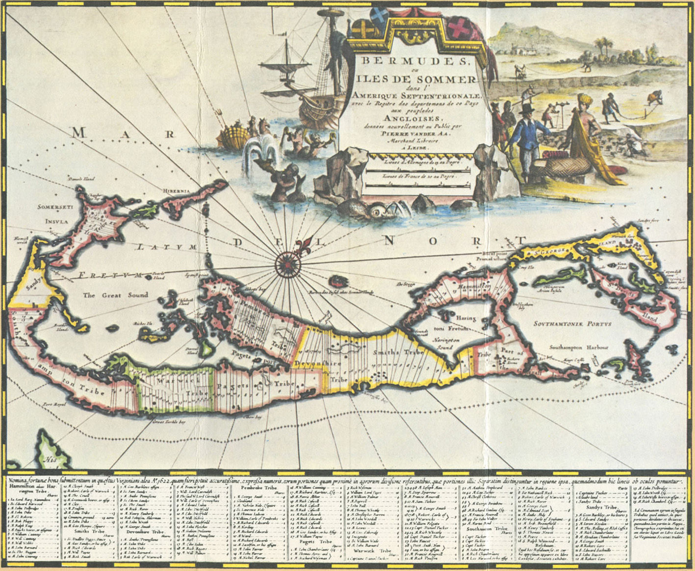1729 Bermuda Antique Map
