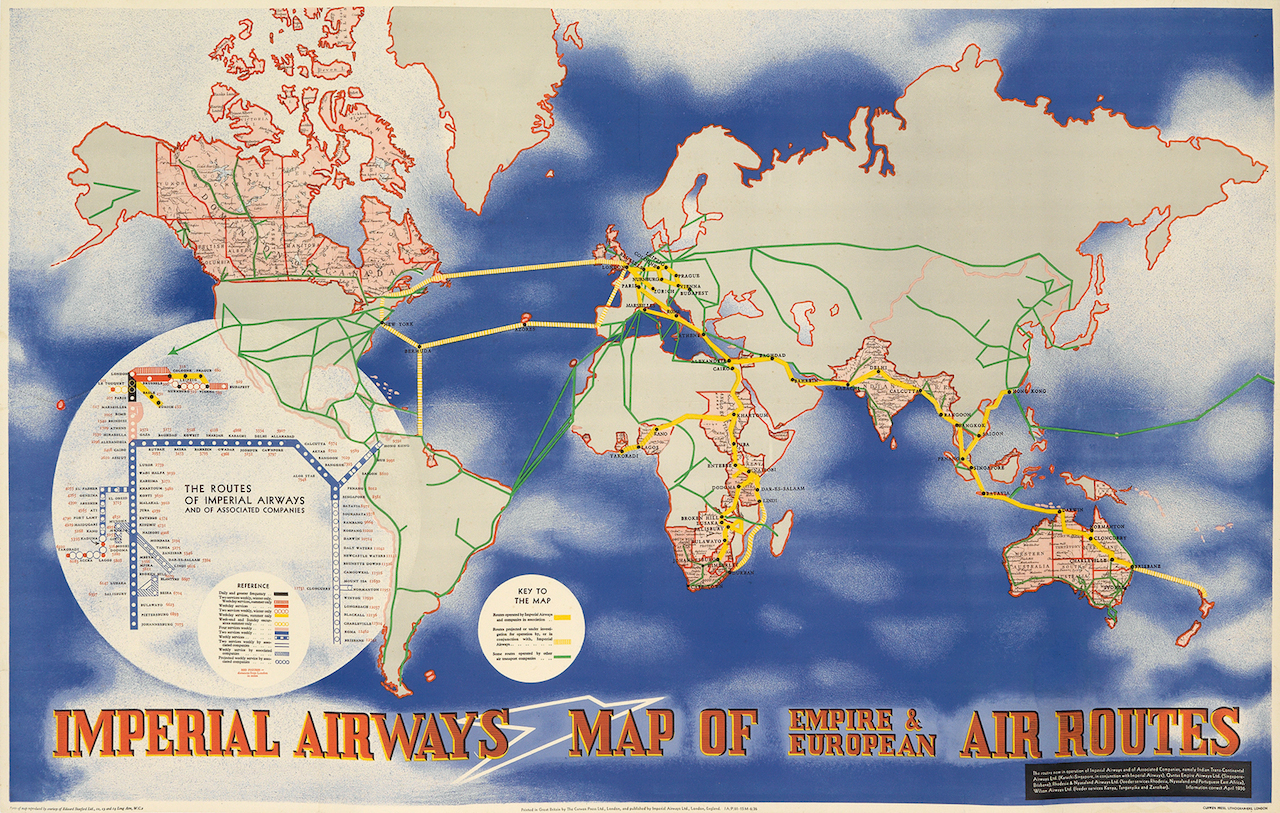 Imperial Airways Empire and European Routes