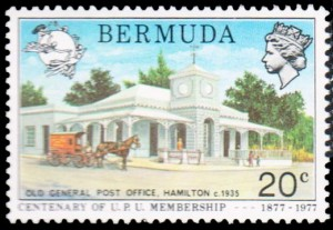 Old Post Office Hamilton 1935 on 1977 UPU Centenary 17c stamp
