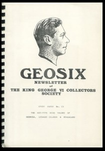 A Study of the Printings of the King George VI Key-Type High Values of Bermuda, Leeward Islands & Nyasaland