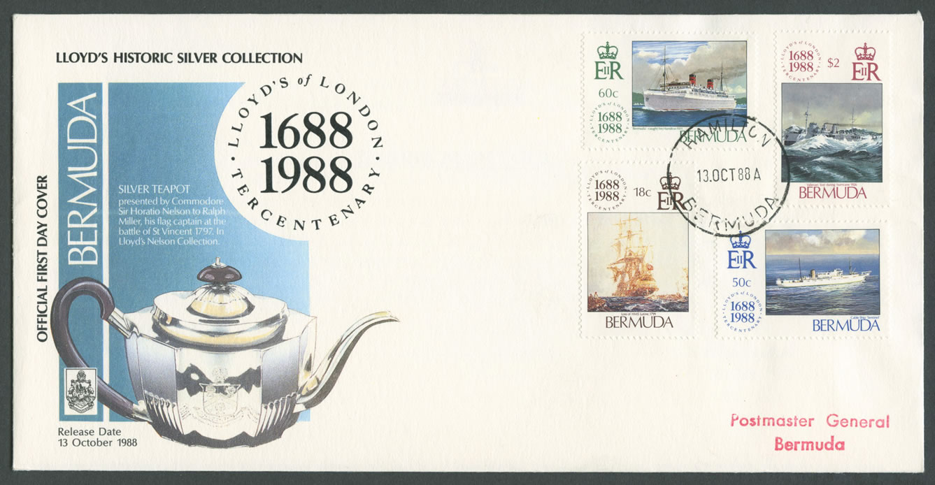 1988 Loyd's of London Tercentenary FDC