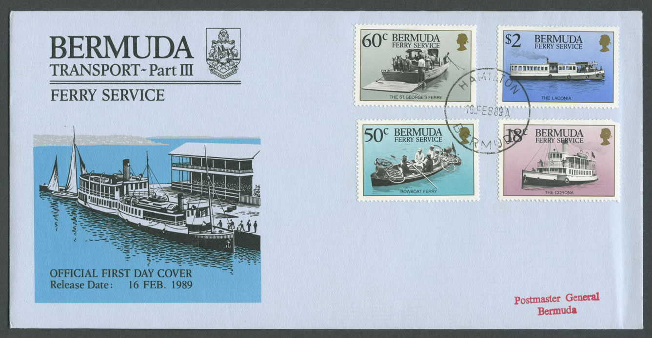 1989 Transport Ferry Service Pt III FDC