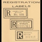 1993 Bermuda Registration Labels Arch