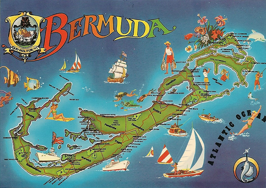 Bermuda Maps Selection Bermuda Stamps - Bermuda islands map