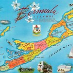 Bermuda Islands map postcard