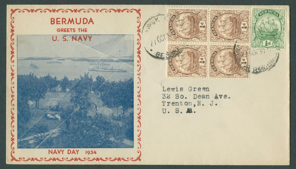 1934 Navy Day Bermuda CC