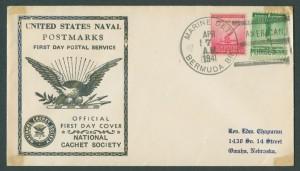 1941 Marine Det Bermuda BR First Day FDC