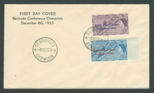 1953 Bermuda Conference overprints FDC