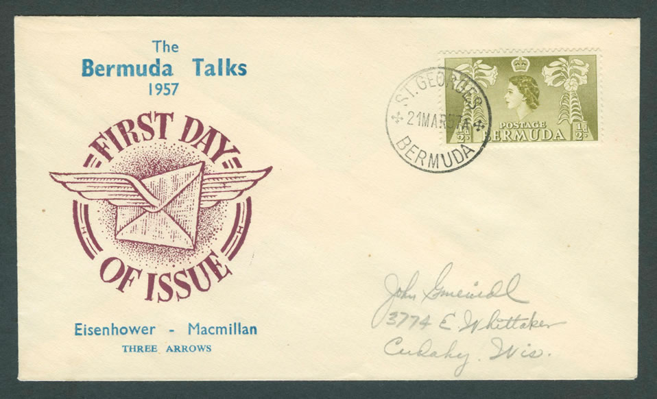 1957 Bermuda Talks FDC