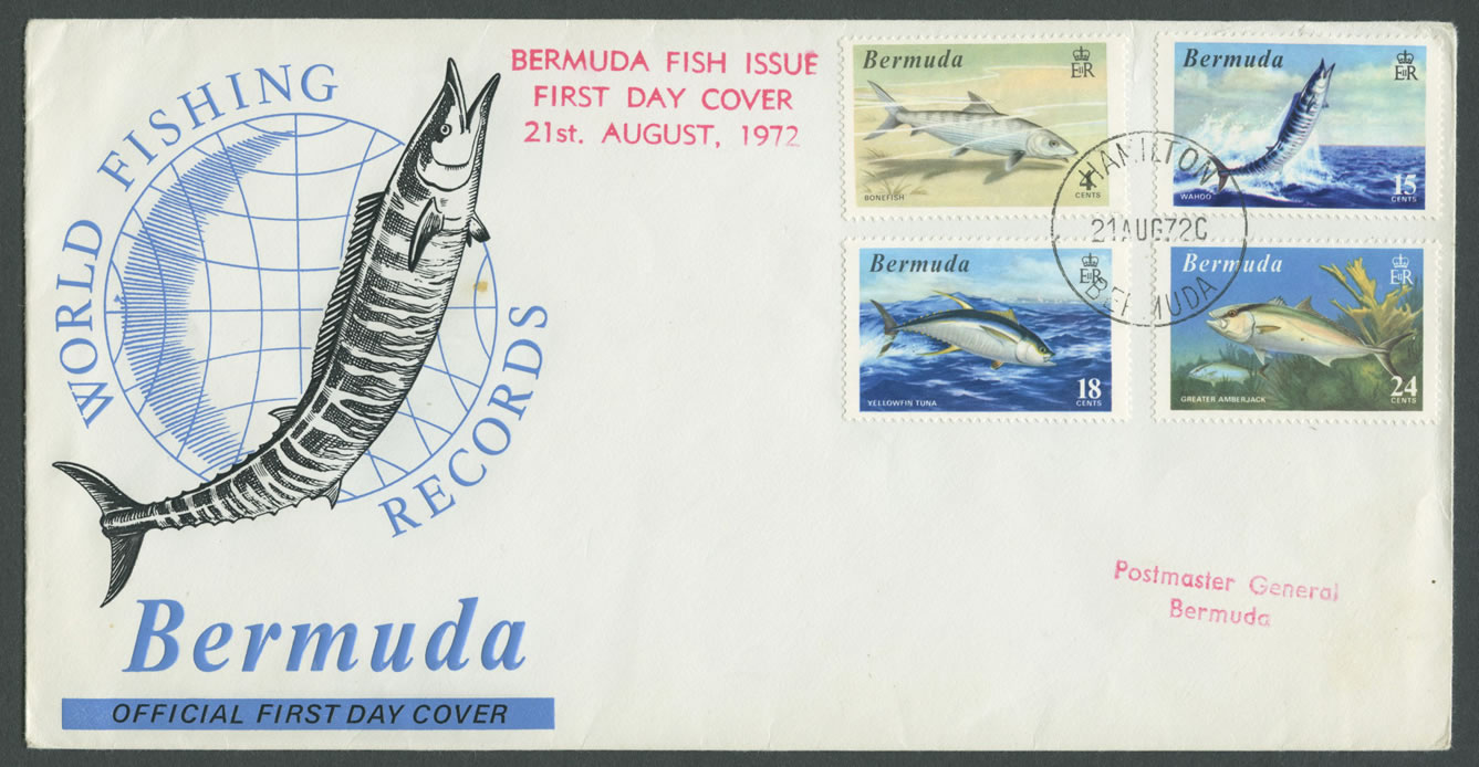 1972 World Fishing Records FDC